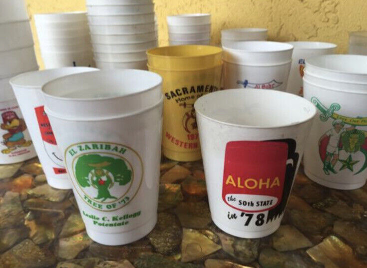 20 Vintage Shriner Souvenir Plastic Cups From This Amazing Assortment!