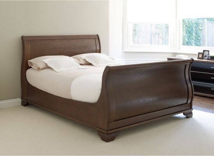 King Size Walnut Sleigh Bed In Newhaven Edinburgh Gumtree