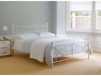 Dreams Classic White Double Bed Frame