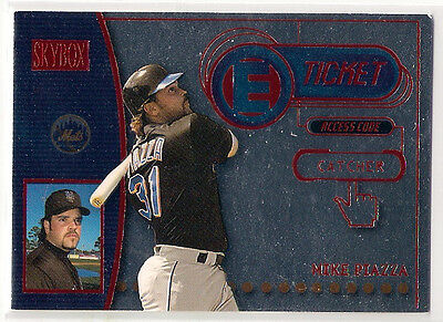 2000 SkyBox E-Ticket Star Rubies Mike Piazza 40/100
