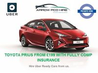 PCO CAR RENT,PCO CAR HIRE,UBER READY,TOYOTA PRIUS RENT/HIRE FROM £199/WEEK INC FULLY COMP INSURANCE.
