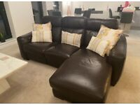 L SHAPE 3 SEATER ELECTRIC RECLINING SOFA & 1 SEATER ELECTRIC RECLINER