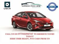 PCO CAR HIRE, PCO CAR RENT, UBER READY, ULEZ COMPLIANT, TOYOTA PRIUS