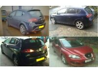 MK2 SEAT LEON 1.6 TDI 1.6 PETROL 1.4 TSI IN BLACK RED PURPLE SILVER BREAKING FOR PARTS