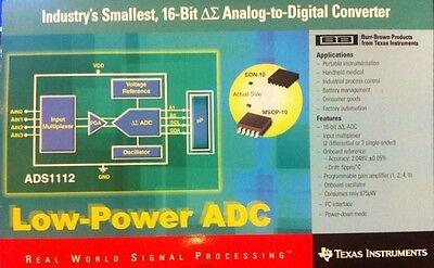Ads1112 16-bit Adc Analog-to-digital Converter Ic 2 Pcs Arduino