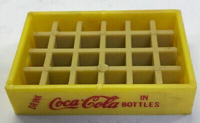 Vintage Miniature Yellow COCA COLA Mini Bottle Coke Case Crate
