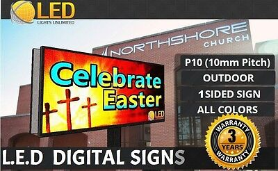 P10 Single Side 4ft X 8ft Full Color Programmable Led Digital Sign Outdoor