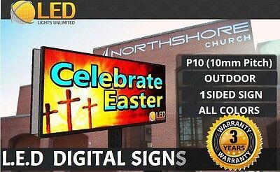P10 Single Side 4ft X 8ft Full Color Programmable Led Digital Sign Outdoor
