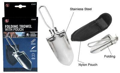 Mini Stainless Steel Folding Shovel Gardening Trowel W/ Carry Case NEW Stainless Steel Folding Shovel