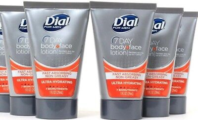 5 Dial For Men 7 Day Body Face Lotion TSA Complient Travel Size Ultra Hydrating