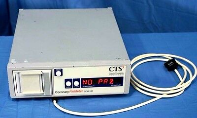 Cts Cardio Thoracic Systems Coronary Flometer Cfm-100 With Warranty
