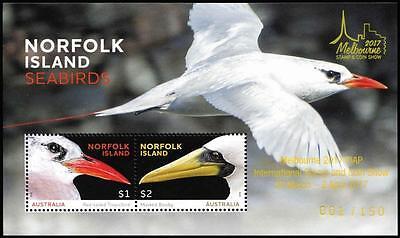 "NORFOLK ISLAND SEABIRDS ""MELBOURNE 2017"" SHEET MNH SCARCE"