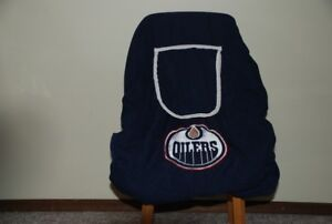 """Oiler's"" infant carseat cover"