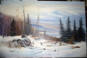 """Winter Trail"" Original Oil by S. Irsag"