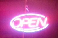 """OPEN"" sign for stores and businesses"