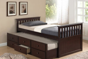NEW Solid Wood Trundle Bed ★ 4 Colors ★ Can Deliver