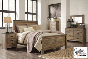 Brand NEW Trinell Complete Queen Bed! Call 519-895-0012!