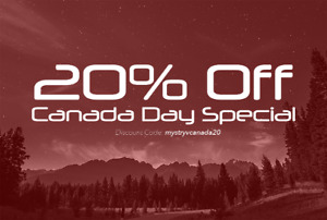 20% Off Canada Day Special