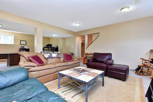 Leather sofa, love seat, chair, ottoman & coffee table