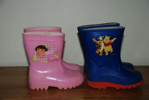 2 pair toddler rainboots Size 6