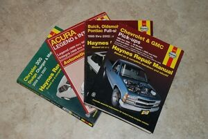 """Haynes"" Repair Manuals for Sale $5.00 per manual"