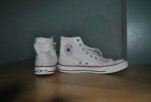 White High Top Converse Shoes Mens 8 Or Womens 10