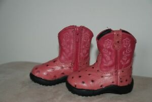 """Infant """"Roper"""" baby girl western boots, Size 2"""