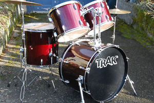 COMPLETE FULL SIZE DRUM SET PACKAGE with SABIAN C