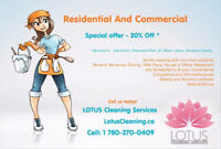 LOTUS Cleaning Services - House, Condo, TownHome - we do it all