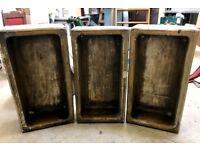 3x Hurlford antique stone trough sink planter