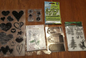 Clear acrylic cling stamps
