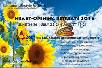 Heart Opening Retreat, Vancouver isle @ Beautiful SunLotus.ca
