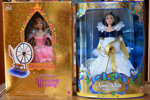 Disney Sleeping Beauty and Snow White dolls