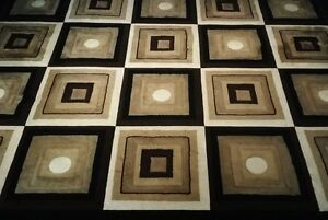 3D Abstract Brown Area Rug