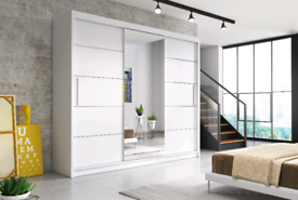 FAST & FREE DELIVERY ON OUR RANGE OF SLIDING MIRRORED WARDROBES
