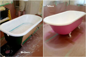 Resurfacing Bathtubs & Tile, Grout Cleaning & Caulking Renewal