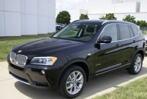 2013 BMW X3 SUV Black Saphire Oyster Leather Interior