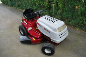White Outdoor Riding Mower (by MTD)