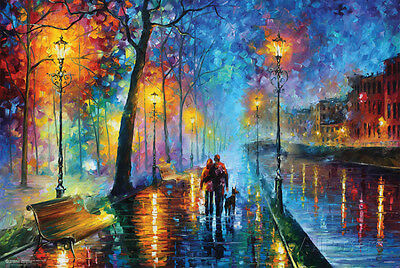 Leonid Afremov- Melody Of The Night Poster Print by Leonid Afremov, 36x24