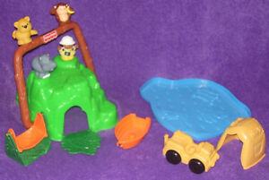 Little People Safari Mountain - RARE Vintage 1997 Set & Book