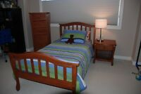 College Woodworks Solid Wood Twin Bed Set
