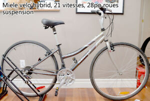 Miele velo hybrid, 21 vitesses, 28po roues, suspension