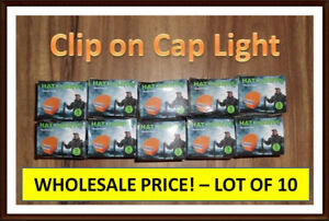Portable Clip on Cap Lights (Lot of 10) Prefect for Re-sale Chwk