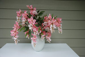 TWO Flower Vases For Sale (silk flowers not included)