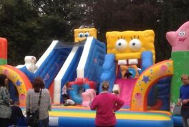 Large inflatable bouncy castle/ playbed