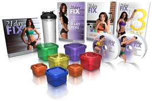 Brand New 21 Day Fix Program DVDs, Containers and Shaker Cup