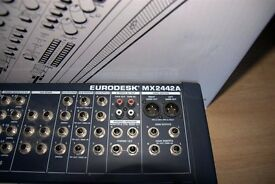 Eurodesk MX2442 mixing board/mixer, 24 channels,good condition,