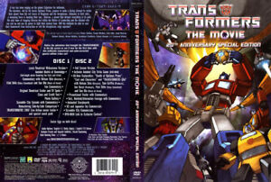 Transformers the Movie (classic animated) 20th Anniversary DVD