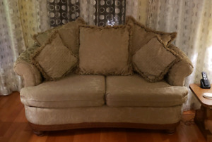 Sofa & Love Seat...selling as is Condition