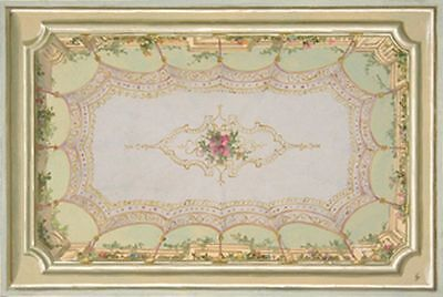 Dollhouse Wallpaper Ceiling Mural